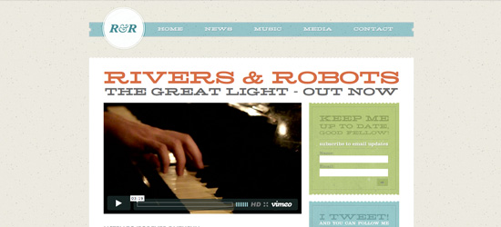 Rivers and Robots website design