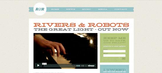 Rivers and Robots website design