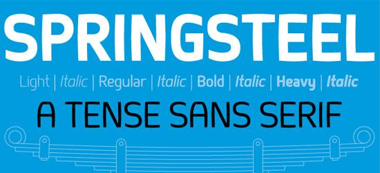 Springsteel Free Font