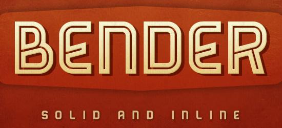 Bender Free Font