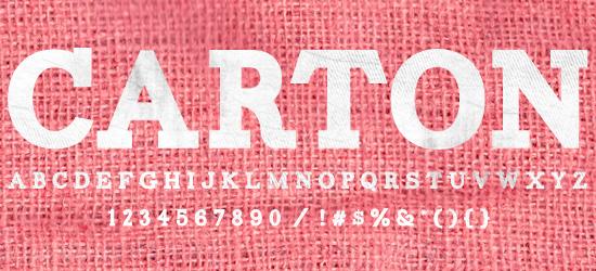 Carton Free Font