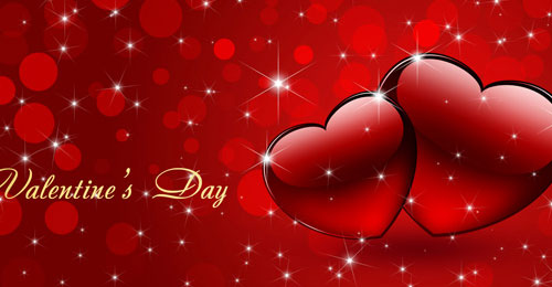 Create Festive Background for Valentine's Day with Abstract Hearts