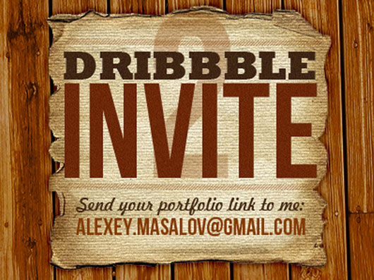 Dribbble invite shot by Alexey Masalov