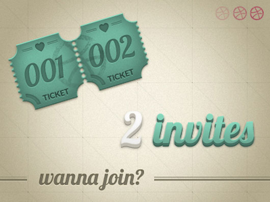 Dribbble invite shot by Daniela Alves