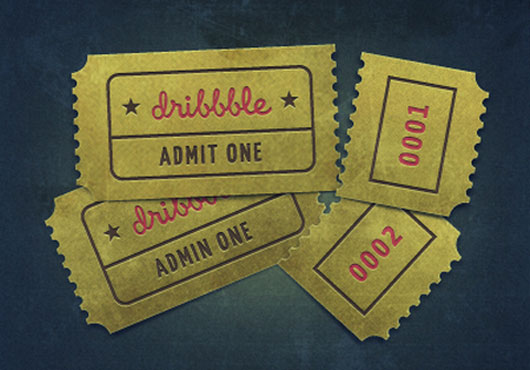 Dribbble invite shot by Dime Kuzmanovski