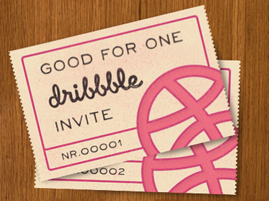 Dribbble invite shot by Jan Luts