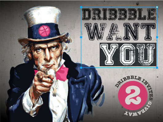 Dribbble invite shot by Michele Giorgi