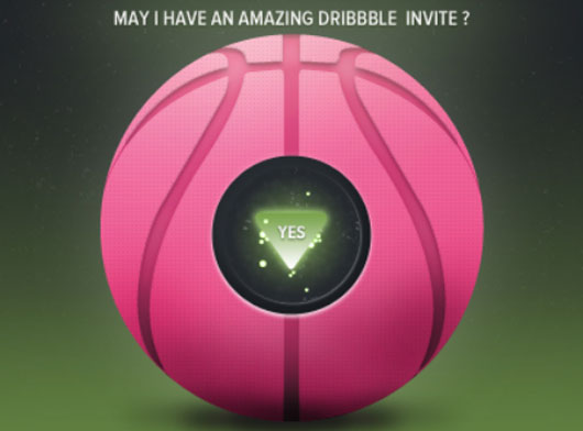 Dribbble invite shot by  Simone Marcarino
