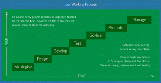 Rise Strategy - process steps section