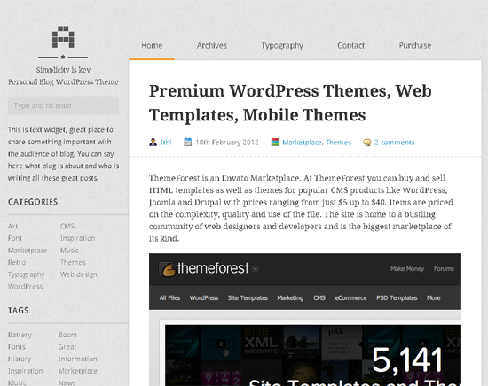 A Personal Blog WordPress Theme