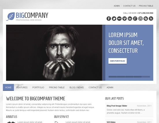 Big Company WordPress Theme