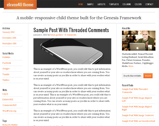Eleven40 WordPress Theme