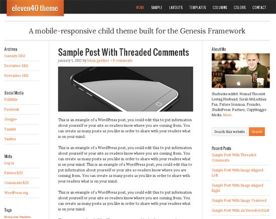 Eleven40 WordPress Theme