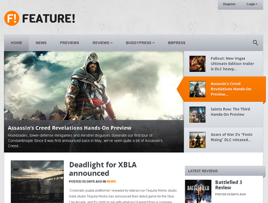 !Feature WordPress Theme