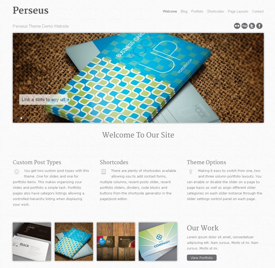 Perseus WordPress Theme
