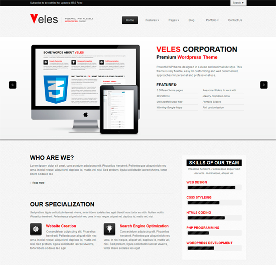 Veles WordPress Theme