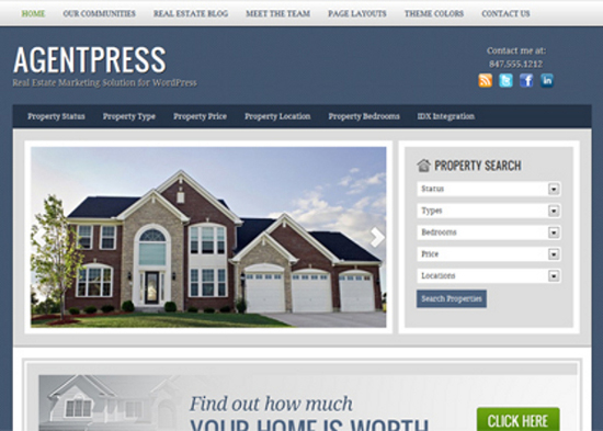 A Showcase of WordPress Themes for Real Estate Websites