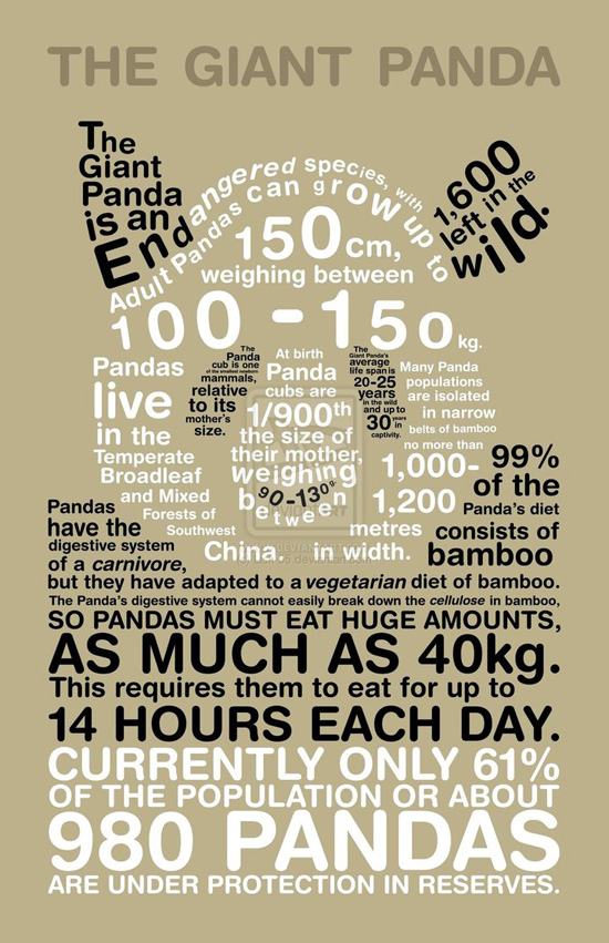"Typographical Infographics That'll Make You Go ""Wow!"""