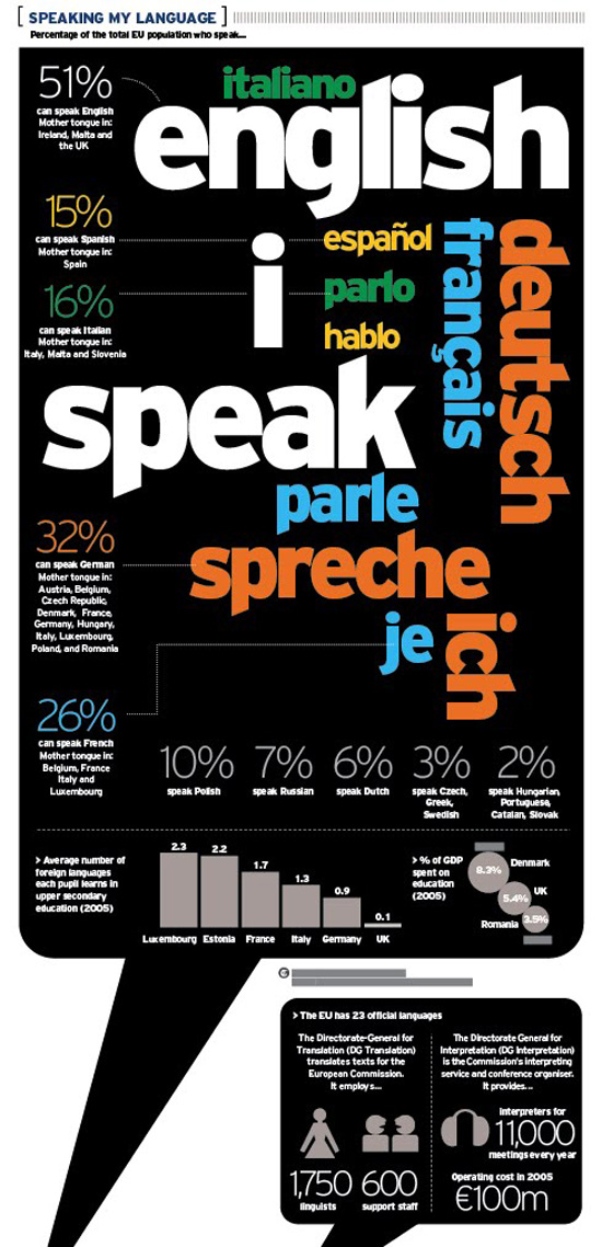 speaking my language typography infographic