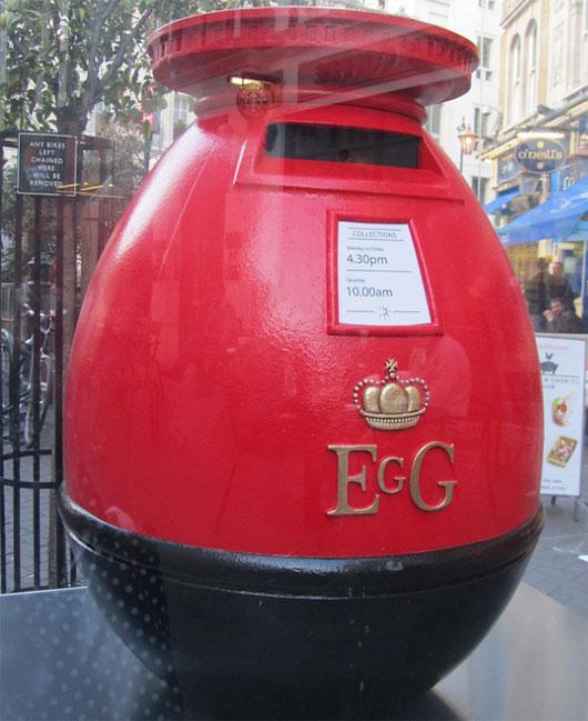 Egg letter box.
