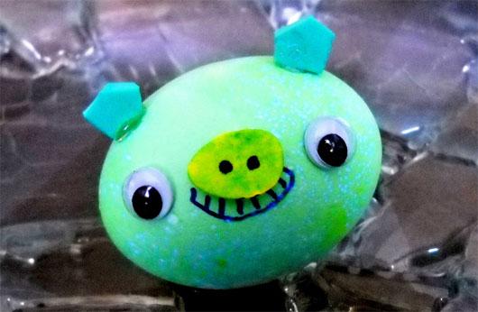 Little green piggie egg