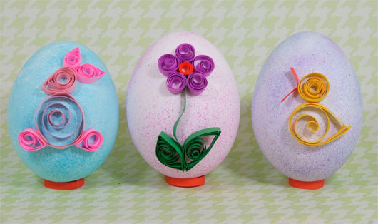 Quilled paper Easter eggs