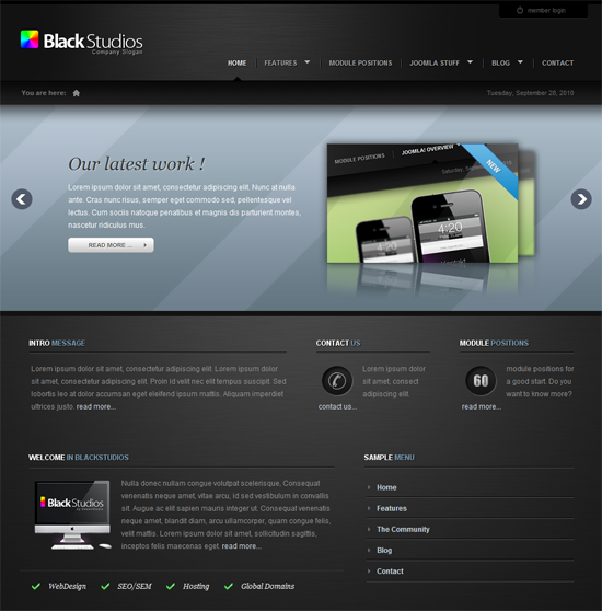 BackStudios Joomla Template