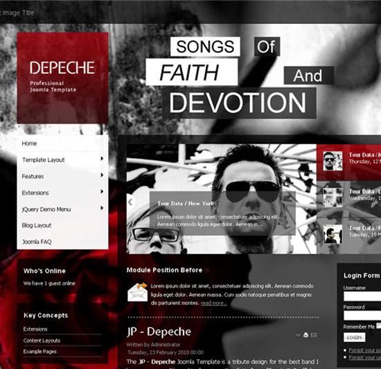Depeche Joomla Template