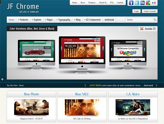 JF Chrome Joomla Template