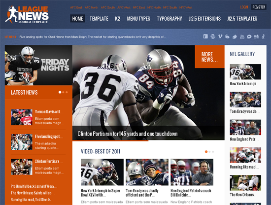 League News Joomla Template