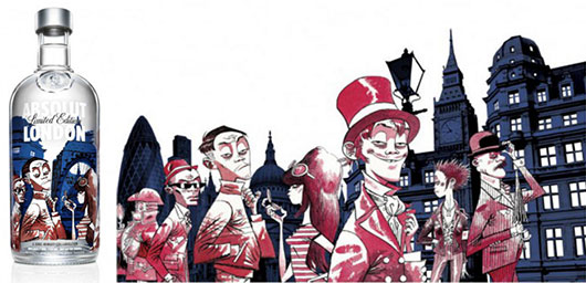 Absolut London illustration