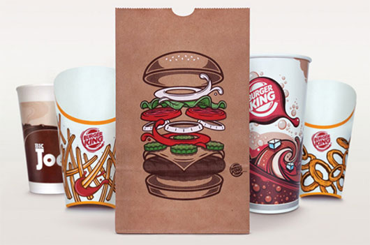 Burger King Global Packaging illustration