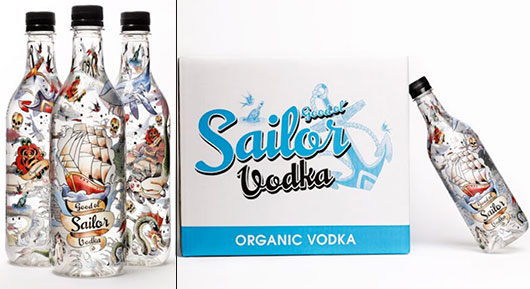 Good Ol'Sailor Organic Vodka illustration