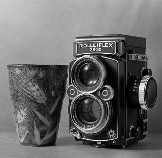 camera and tea