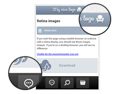 The Mobile Web: CSS Image Replacement for Retina Display Devices