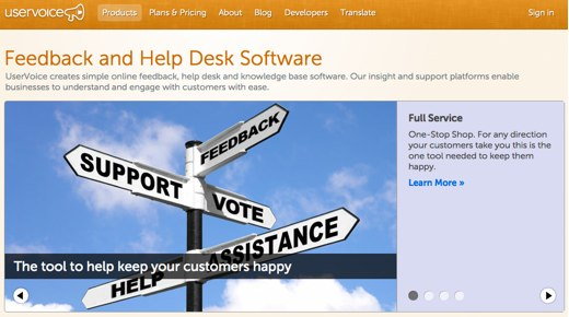 uservoice feedback software