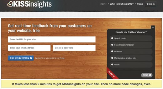 kissinsights customer feedback tool