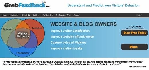 grabfeedback visitor feedback service