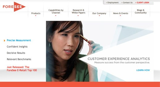 Foresee customer feedback service