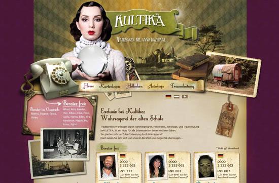 showcase of unique steampunk web design resources