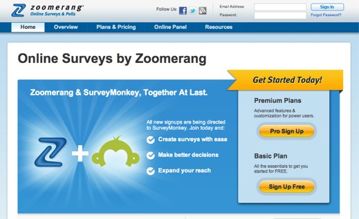 zoomerang online survey software