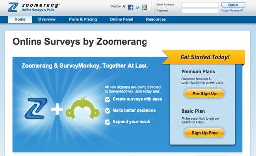 zoomerang online survey software