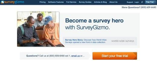 surveygizmo online survey software