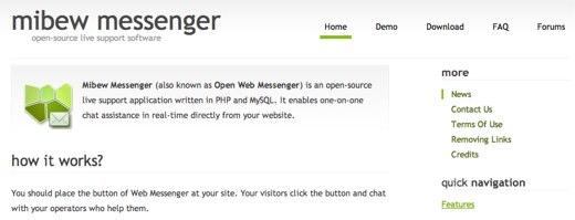 mibew web messenger