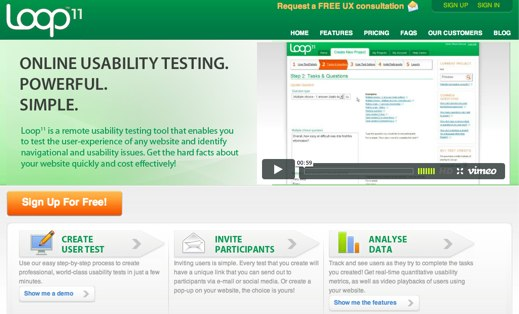 loop11 usability testing