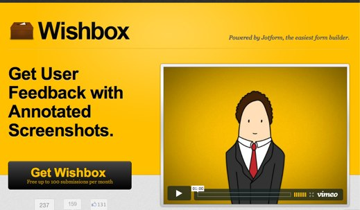 wishbox get user feedback with annotated screenshots