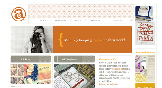 Putting the Pieces Together: Scrapbook Style Web Designs