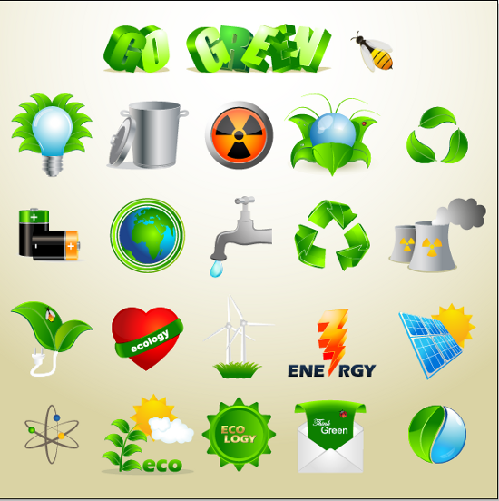 Exclusive Vector Freebie: Ecology Icon Set