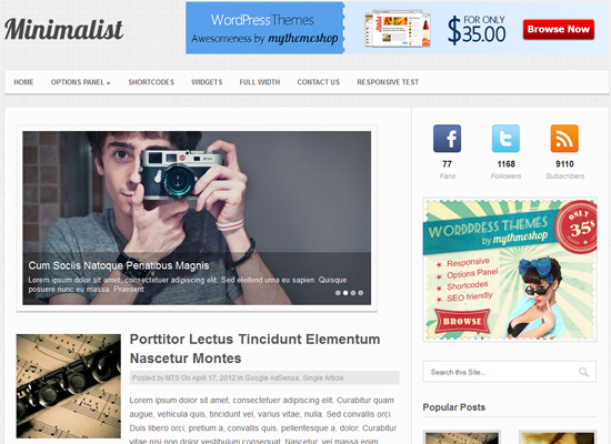 Showcase of Wonderful Responsive WordPress Themes