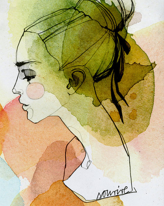 Runny Paints: Modern Watercolor Portraits